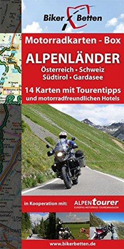 9783939997108: Motorradkarten-Box Alpenländer: 14 Tourenkarten für Motorrad-Reisende