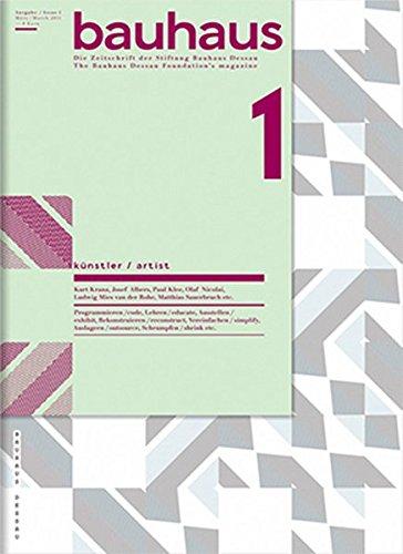 9783940064189: Bauhaus 1 Artist: The Bauhaus Dessau Foundation's Magazine (Bauhaus Magazine)