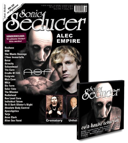 9783940065186: Sonic Seducer 02-08 + 10 exkl. Sticker und Cold Hands CD mit Bands u.a. Qntal, Leandra feat. Sven Friedrich, Crematory u.v.m.