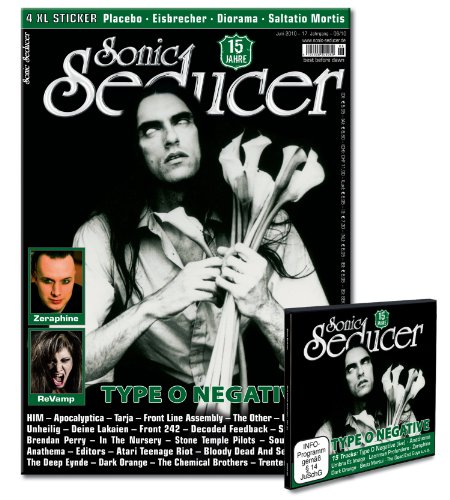 9783940065780: Sonic Seducer 06/2010: Mit Type O Negative Titelstory, 4 XL-Stickern von Placebo, Eisbrecher, Diorama, Saltatio Mortis + Cold Hands Seduction CD Vol. 10