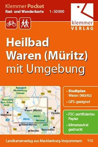 9783940175335: Rad- und Wanderkarte Heilbad Waren (Müritz) 1 : 50 000 mit Umgebung: Klemmer-Pocket GPS geeignet, Touren-Tipps auf der Rückseite