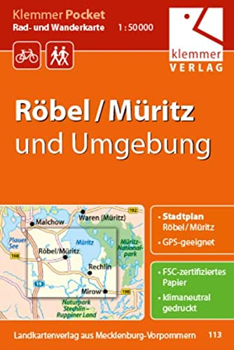 9783940175489: Röbel / Müritz und Umgebung 1 : 50 000