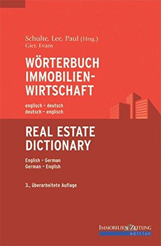 9783940219008: Wörterbuch Immobilienwirtschaft englisch-deutsch /deutsch-englisch