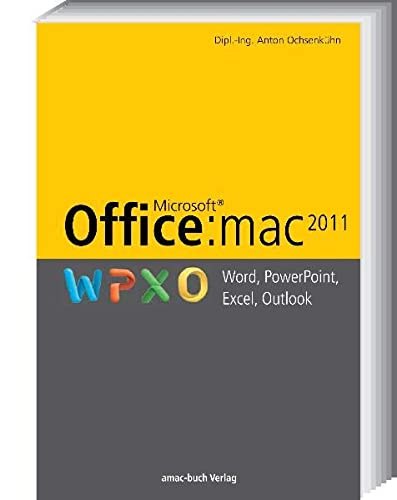 9783940285256: Office:mac 2011 - Word, Excel, PowerPoint, Outlook