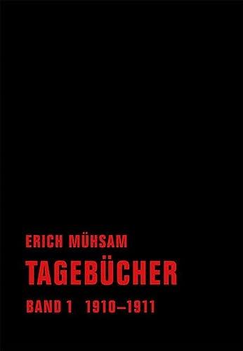 9783940426772: Tagebücher. Band 01: 1910-1911