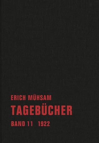 9783940426871: Tagebücher: Band 11. 1922