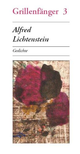 9783940531155: Alfred Lichtenstein: Gedichte