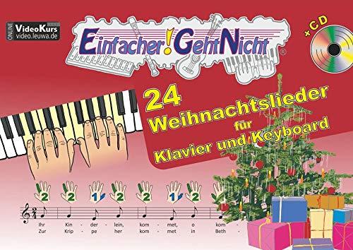 Keyboard Weihnachtslieder Anfänger.9783940533296 Einfacher Geht Nicht 24 Weihnachtslieder Für