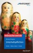 9783940580009: Unterhaltspflichten: ARD Ratgeber Recht. Kinder - Eltern, Eltern - Kinder