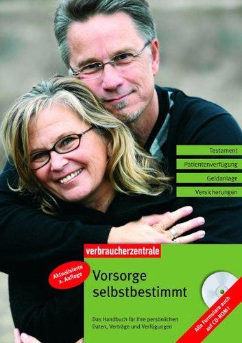9783940580504: Vorsorge selbstbestimmt: Das Handbuch für Ihre persönlichen Daten, Verträge und Verfügungen