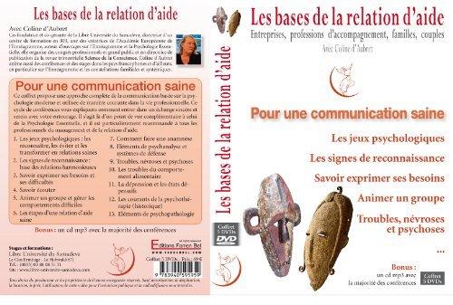 9783940595959: DVD Coffret / Coline d'Aubret / Psychologie moderne - Les bases de la relation d'aide pour une communication saine