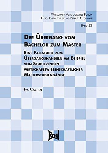 Der Übergang vom Bachelor zum Master: Eva Rüschen
