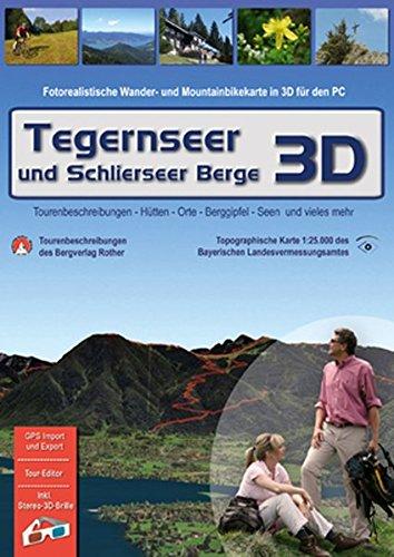 9783940797087: Tegernseer und Schlierseer Berge 3D: Fotorealistische Wander- und Mountainbikekarte in 3D für den PC [Alemania] [DVD]