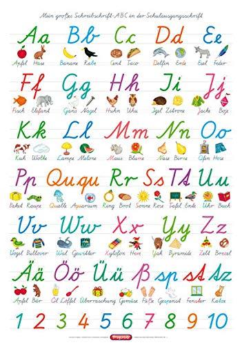 9783940811288: Fragenbär-Lernposter. Mein großes Schreibschrift-ABC in der Schulausgangsschrift (SAS)