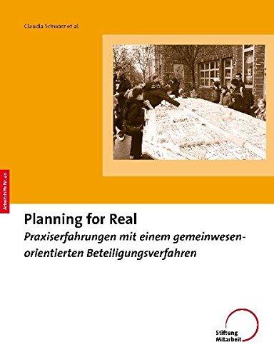 9783941143081: Planning For Real: Praxiserfahrungen mit einem gemeinwesenorientierten Beteiligungsverfahren