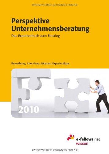 Perspektive Unternehmensberatung 2010: Das Expertenbuch zum Einstieg: e-fellows.net