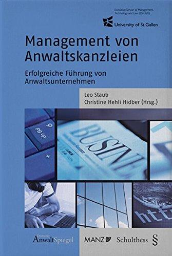 9783941389144: Management von Anwaltskanzleien