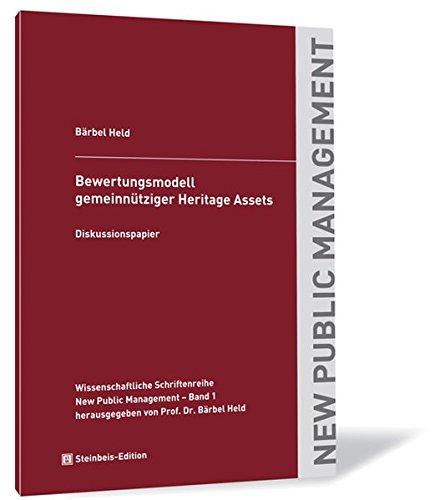 9783941417854: Bewertungsmodell gemeinnütziger Heritage Assets: Diskussionspapier