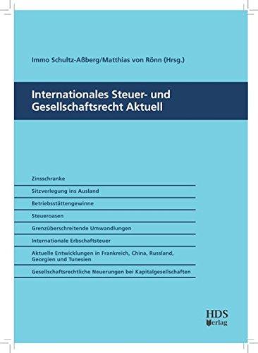9783941480131: Internationales Steuer- und Gesellschaftsrecht Aktuell
