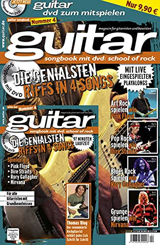 9783941531116: guitar: songbook mit dvd-school of rock 4: Die genialsten Riffs in 4 Songs