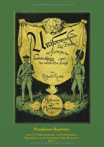 9783941571044: Uniformenkunde, Band 3: Nachdruck der Originalausgabe von 1892