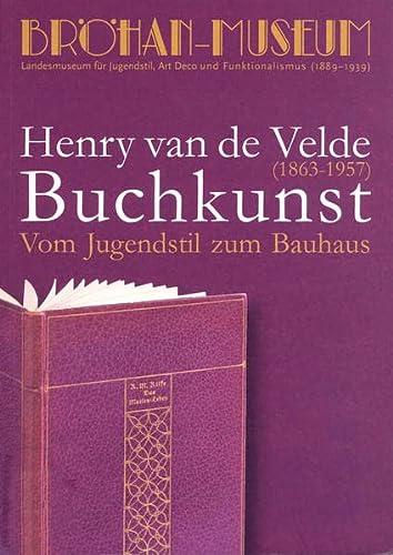 9783941588011: Vom Jugendstil zum Bauhaus Henry van de Velde (1863-1957) Buchkunst