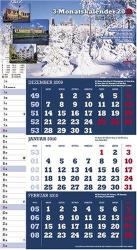 9783941594005: 3-Monatskalender Sachsen 2010: Praktischer Monatsplaner mit sächs. Kalendarium