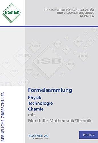 9783941951389: Formelsammlung Physik Technologie Chemie