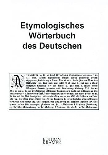 9783941960039: Pfeifer, W: Etymologisches Woerterbuch des Deutschen