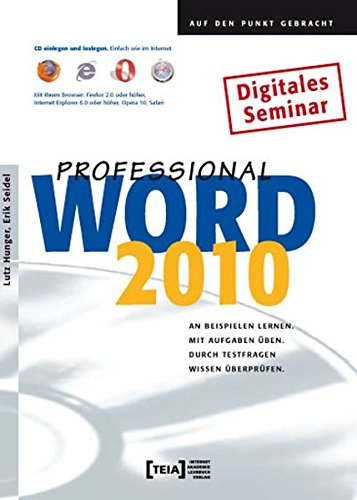9783942151344: Word 2010 Professional