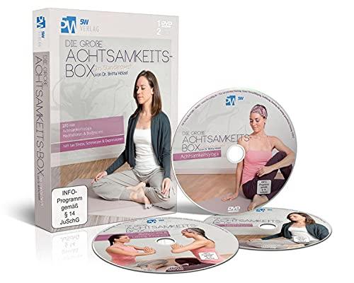 9783942177153: Die große Achtsamkeits-Box (hilft bei Stress, Schmerzen & Depressionen - 1 DVD Achtsamkeitsyoga, 2 CDs Meditationen & Bodyscans) [Alemania]