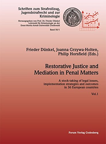 9783942865319: Restorative Justice and Mediation in Penal Matters