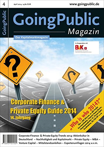 9783943021530: Corporate Finance & Private Equity Guide 2014