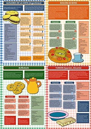 9783943079517: Gebäck aus Spanien und Lateinamerika. Plakat: zweisprachige Rezepte