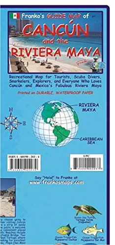 9783943119091: Franko Map Cancun and the Riviera Maya Guide