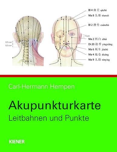 9783943324136: Akupunkturkarte: Leitbahnen und Punkte