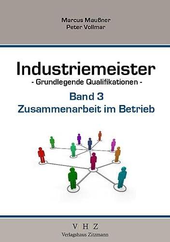 9783943370089: Industriemeister Zusammenarbeit im Betrieb: Grundlegende Qualifikationen