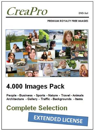 9783943668551: DVD-Set CreaPro IMAGE PACK (4 Foto-DVDs): ca. 4.000 lizenzfreie hochaufgelöste Royalty Free Bilder und Fotos- Mit Model Release und Erweiterter Lizenz für Wiederverkaufsprodukte