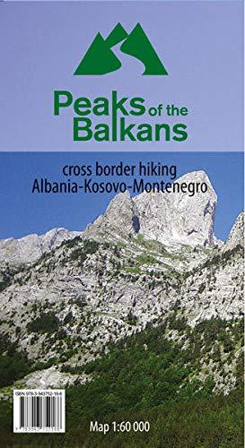 9783943752168: Peaks of the Balkans - map