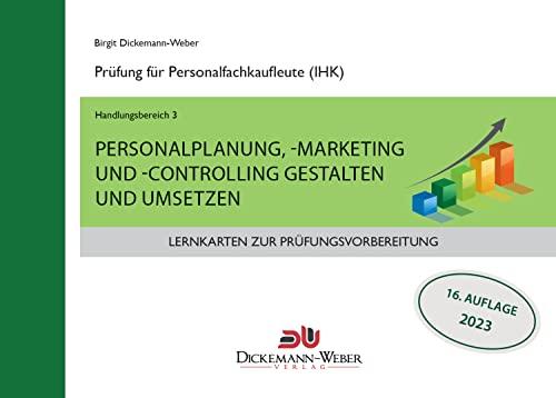 9783943772050: Lernkarten für die Prüfung zur Personalfachkauffrau/mann: Handlungsbereich 3 - Personalplanung, -marketing und -controlling