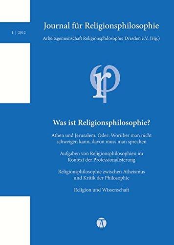 Journal für Religionsphilosophie Nr. 1 (2012): Nr. 1 (2012)
