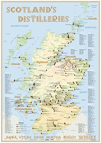 9783944148168: Whisky Distilleries Scotland - Poster 42x60cm - Standard Edition: The Whiskylandscape in Overview - Maßstab 1:1.000.000