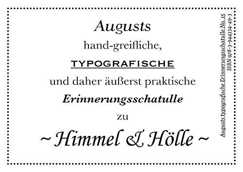 9783944334493: Augusts Erinnerungsschatulle 14. Himmel