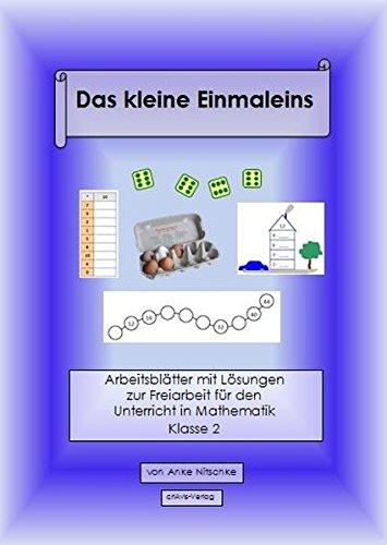 9783944341491 Das Kleine Einmaleins Arbeitsblätter Klasse 2