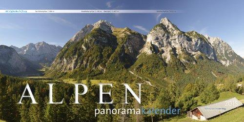 9783945052013: Alpen Panoramakalender 2015