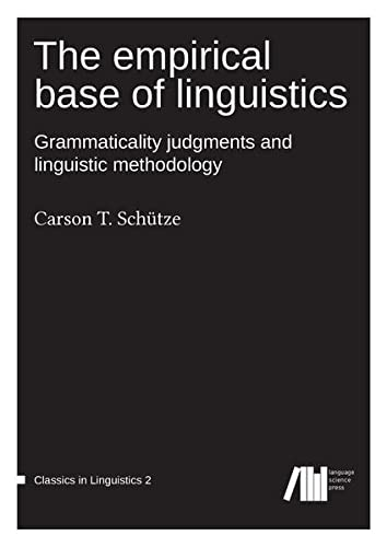 9783946234036: The Empirical Base of Linguistics