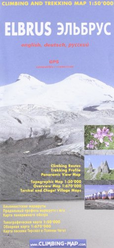 9783952329436: Elbrus Climbing and Trekking Map: Including Terskol, Cheget and Azau City Plans