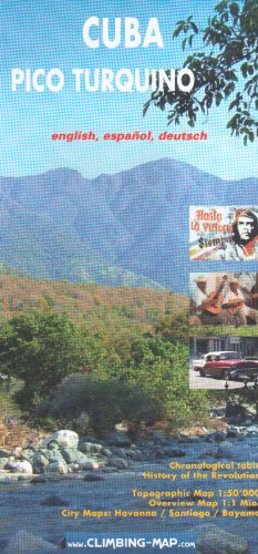 Cuba, Pico Turquino Climbing and Trekking Map: