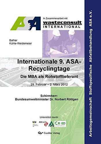 Internationale 9. ASA-Recyclingtage: Matthias K�hle-Weidemeier