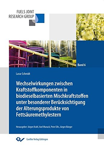 Wechselwirkungen zwischen Kraftstoffkomponenten in biodieselbasierten Mischkraftstoffen unter ...